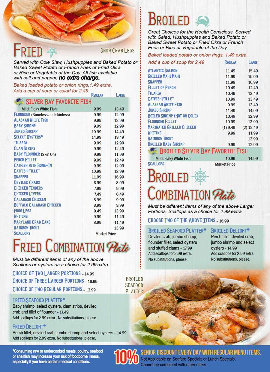 Seafood Restaurant Menu Pdf